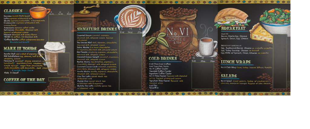 Sealed Restaurant Chalkboard menu sign