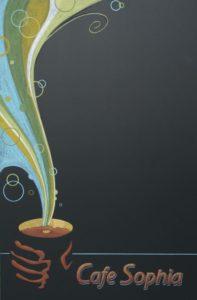 chalk It Up Signs, Cafe Chalk Board,custom, coffee shop chalk art. Sophies Cafe'