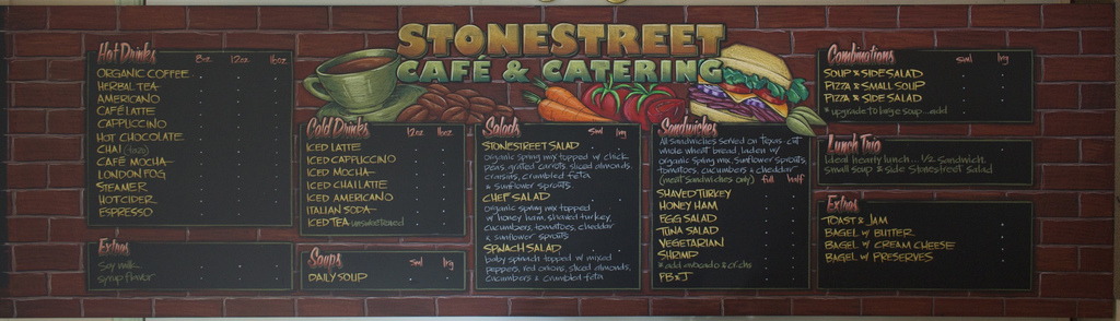 Stonestreet Cafe and Catering Chalkboard Menu