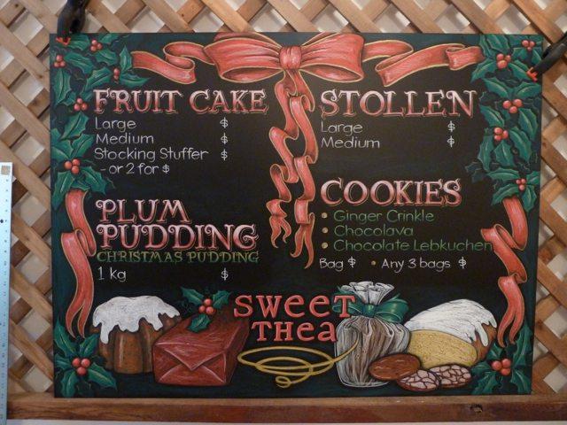 Sweet Thea Chalkboard Menu