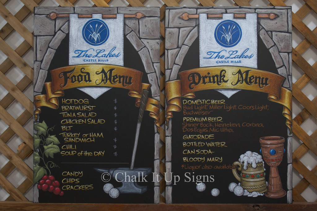 Winery Chalkboard Food Menu