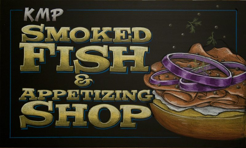 Smoked Fish Chalkboard Art New York City