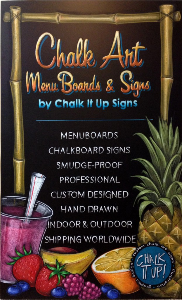 Chalk It Ups Signs Promtional Menu Sign