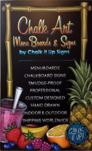 chalkboard sign order, cafe, restaurant Chalk It Ups Signs, Promotional, Menu Sign, chalk art, Canada, buy, purchase