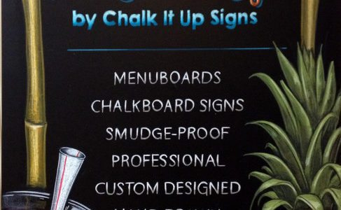 Chalkboard Sign Order from Chalk It Up Signs