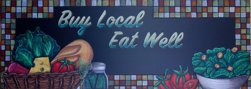Lombardis Restaurant Promotional Chalkboard Sign