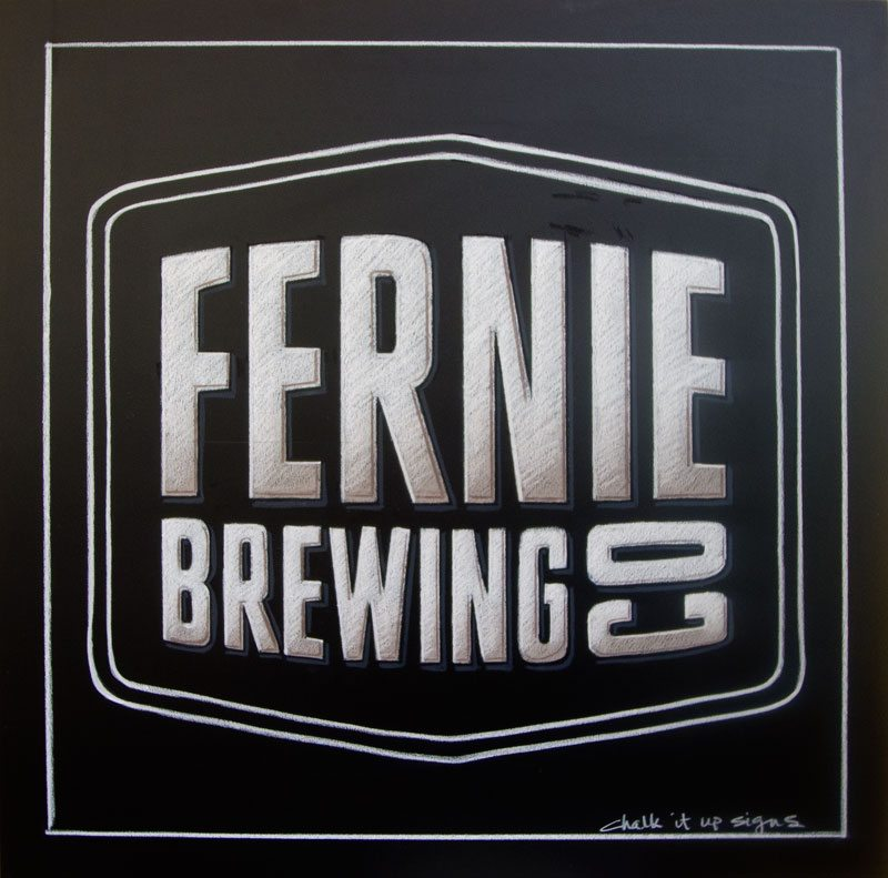 Fernie Brewing Co Logo Chalkboard