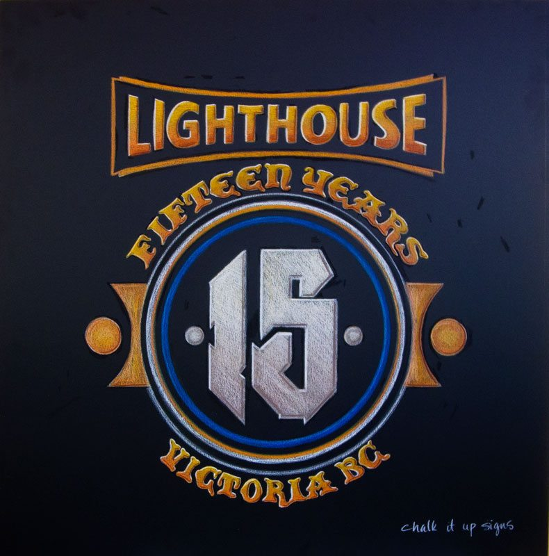 Lighthouse Brewery Victoria BC Chalkboard