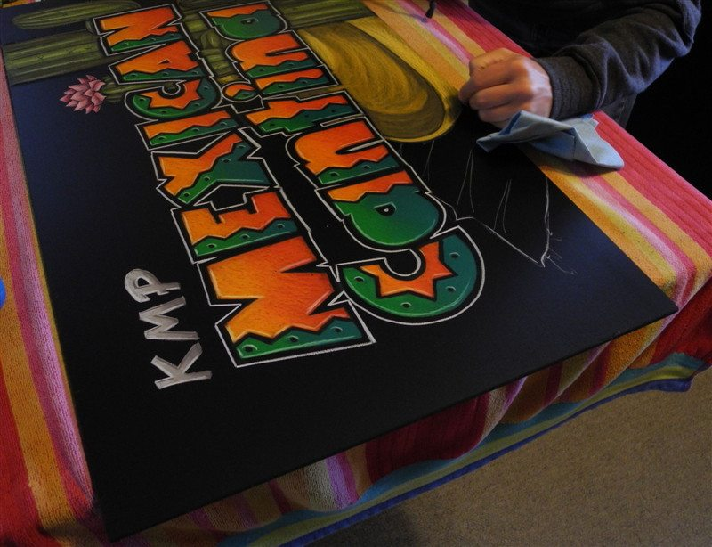About Us, Chalkboard Signage, Menus and Chalk Art, Expo Display Chalkboard Signs