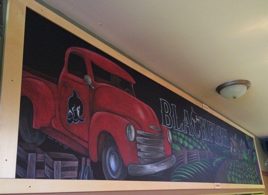 Blackfish Pub Liquor Store Chalkboard Mural
