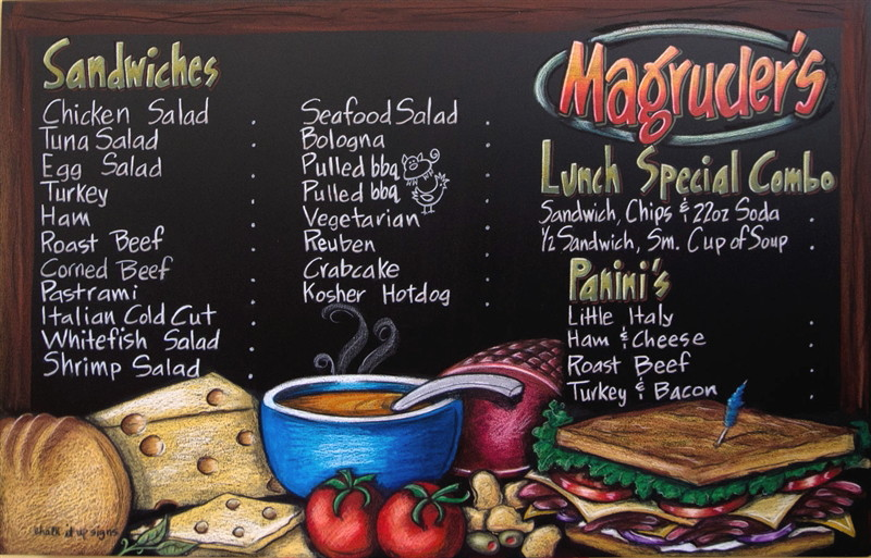Chalkboard Menu Signs, Sealed, Restaurant