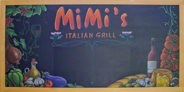 MiMi's Italian Grill Specials Chalkboard