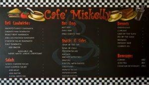 Coffee Shop Chalk Art, Cafe Miskellys Menu Chalkboard, cafe chalkboard