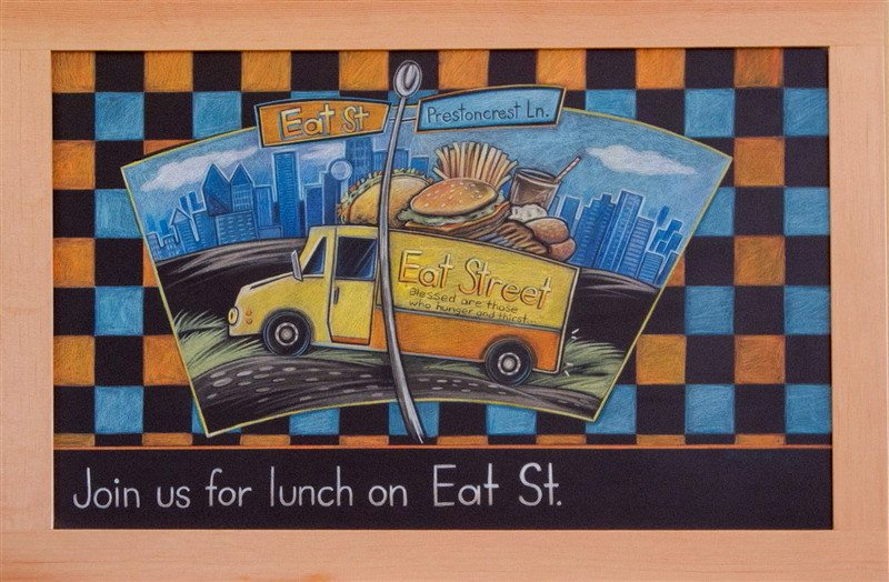 Eat Street Framed Chalkboard Art
