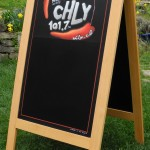A-Frame Specials Chalkboard for CHLY, Radio 101.7fm, Nanaimo