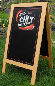 CHLY Radio Malaspina, chly, A-Frame Specials Chalkboard, for CHLY, Radio 101.7fm, Nanaimo