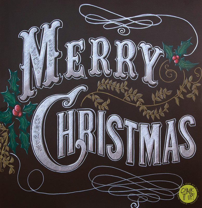 Merry Christmas From Chalk It Up Signs - Chalk It Up Signs