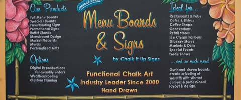 Chalkboard Menu Sign Psychology