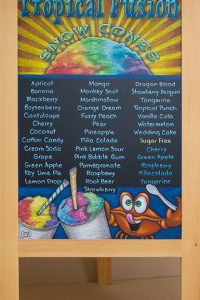 Snow Cone Chalkboard A Frame!