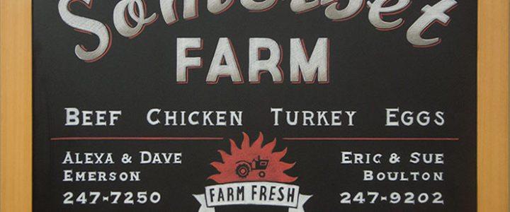 Farmers Market Chalkboard Signs