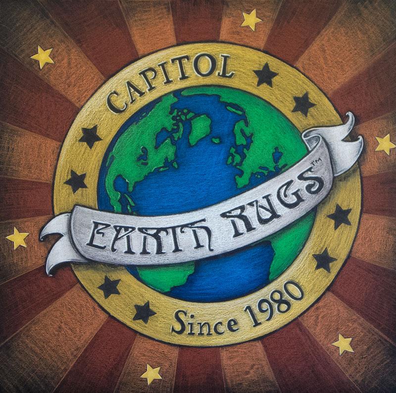 earth rugs logo board
