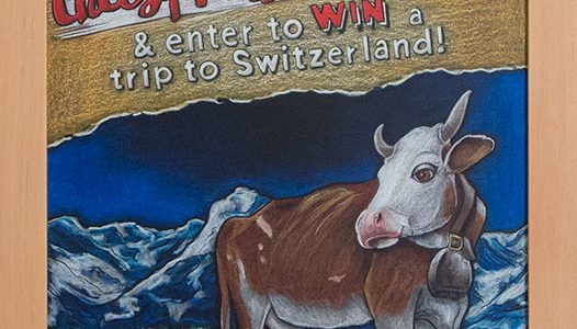 Emmi Contest Chalkboard with Cow
