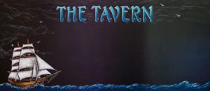 Tavern Chalkboard Specials Sign,Chalkboard of Tall Ship on The Sea For The Tavern