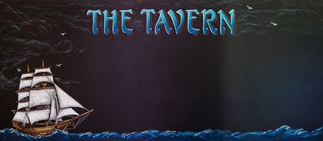 Chalkboard of Tall Ship on The Sea For The Tavern