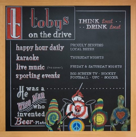 Vancouver Pub Chalkboard Sign