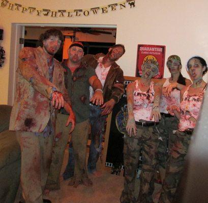 Florida Halloween Movie Blackboard, zombie blackboard