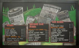 Menu with Stained Frame
