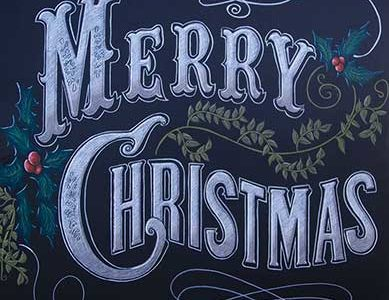 Merry Christmas From Chalk It Up Signs
