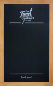 California Irish Pub Chalkboard Sign, west coast fir framing, The Tam O'Shanter, California Pub Chalkboard, Chalk It Up Signs