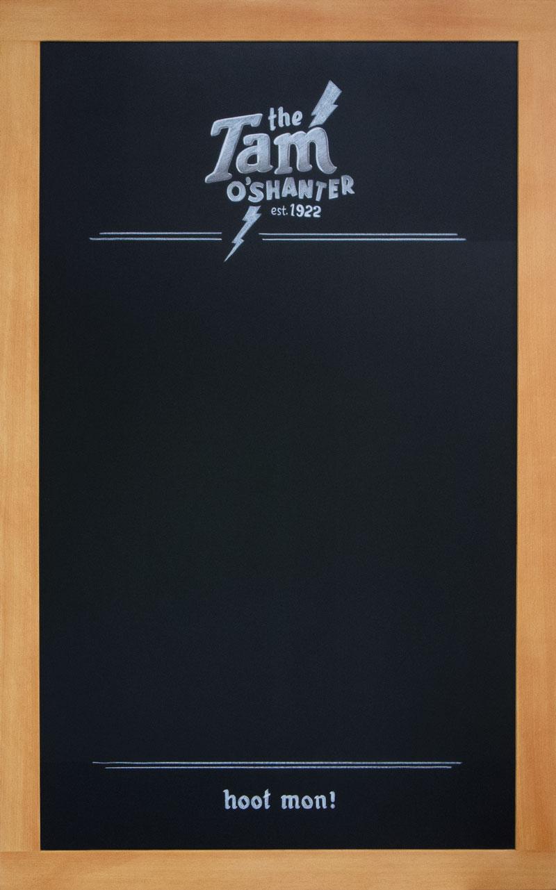 California Pub Chalkboard
