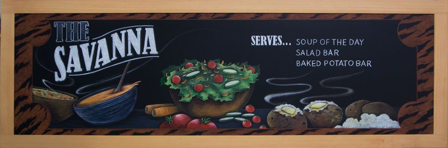 Savanna Chalkboard Sign