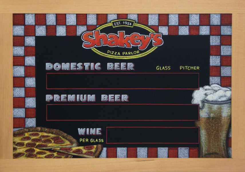 Shakey's Pizza Parlor Chalk Sign