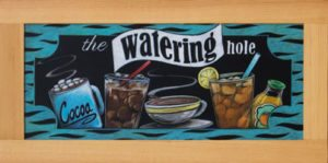 Framed Drink Chalkboard Sign, Houston Texas High School Cafeteria Chalkboard Signs, Chal It Up Signs