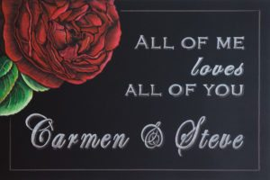 Wedding Rose Chalkboard, wedding memorabilia, wedding photo booth backgrounds, wedding menu and wedding seating charts, wedding invitation, chalk it up signs, John Legend, wedding chalk sign, love chalkboard, wedding chalk art, wedding song lyrics