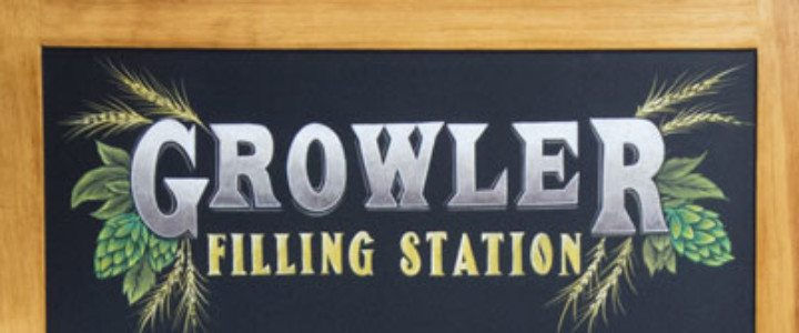 Barley Station Growler Chalkboard