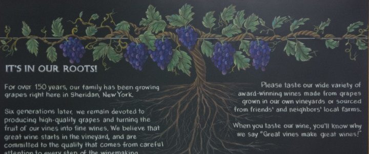 Vineyard Chalkboard Sheridan New York