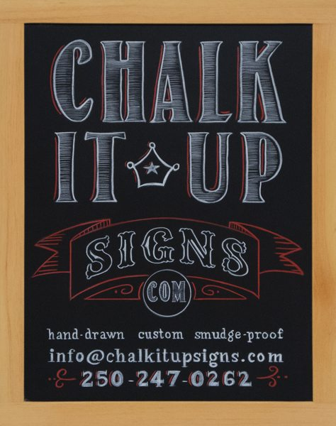 Hand Lettered Chalk It Up Signs Logo Chalkboard