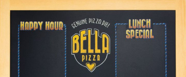 Portland Oregon Pizza Menu Chalkboard Signs