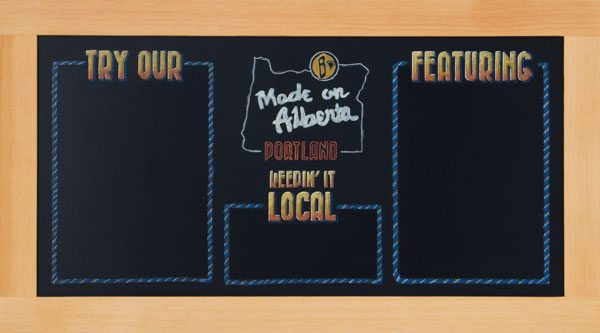 Slogan Framed Specials Chalkboard