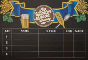 chalkboard sign, Chalk It Up Signs, Chalk Artist, Chalkboard art, Beer Chalkboard, hops, grain, homebrew