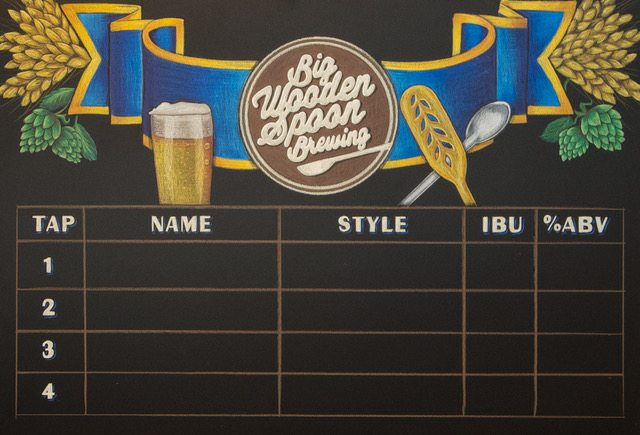 Home Brew Chalkboard Menu