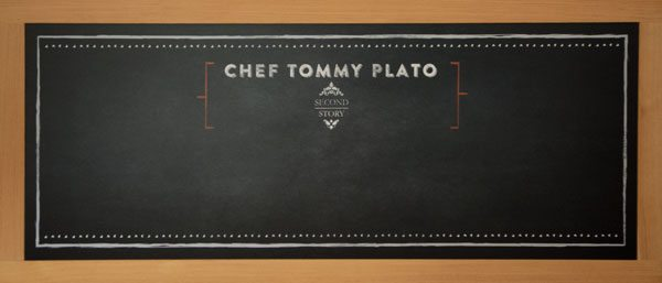 Digitally Printed Framed Chalkboard for Restaurant