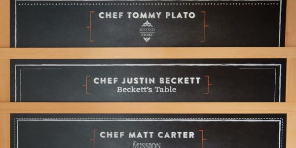 Printed Chalkboard for Special Celebrity Chef Dinner