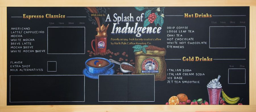 Cafe Chalkboard For North Pole Alaska