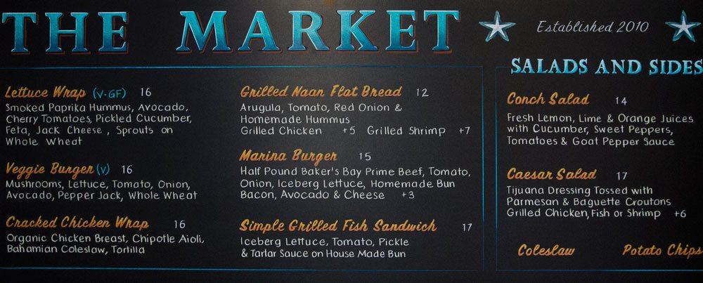 Market Restaurant Menu Chalkboard