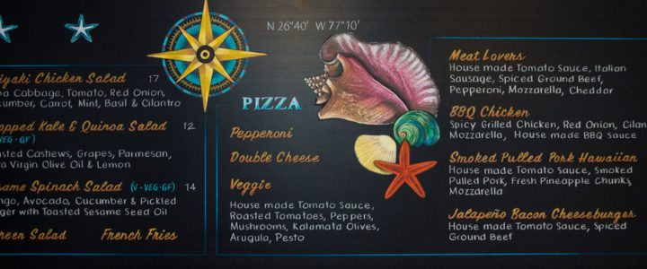 Chalkboard Menu Heading to the Bahamas!